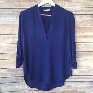 Lush blue blouse